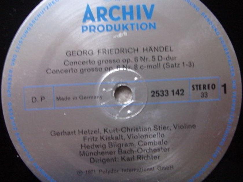 Archiv / RICHTER, - Handel 3 Concerti Grossi No.5, 8 & 9, NM!