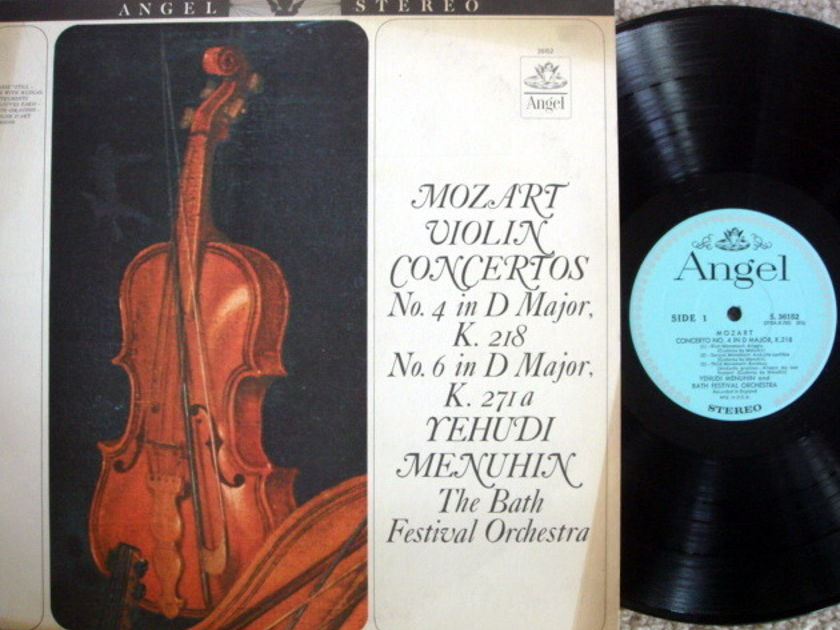EMI Angel Blue / MENUHIN, - Mozart Violin Concertos No.4 & 6, EX!