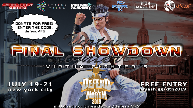 Matcherino - Defend the North 2019: Virtua Fighter 5 - Overview