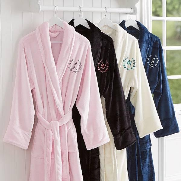 Embroidered Luxury Fleece Robes