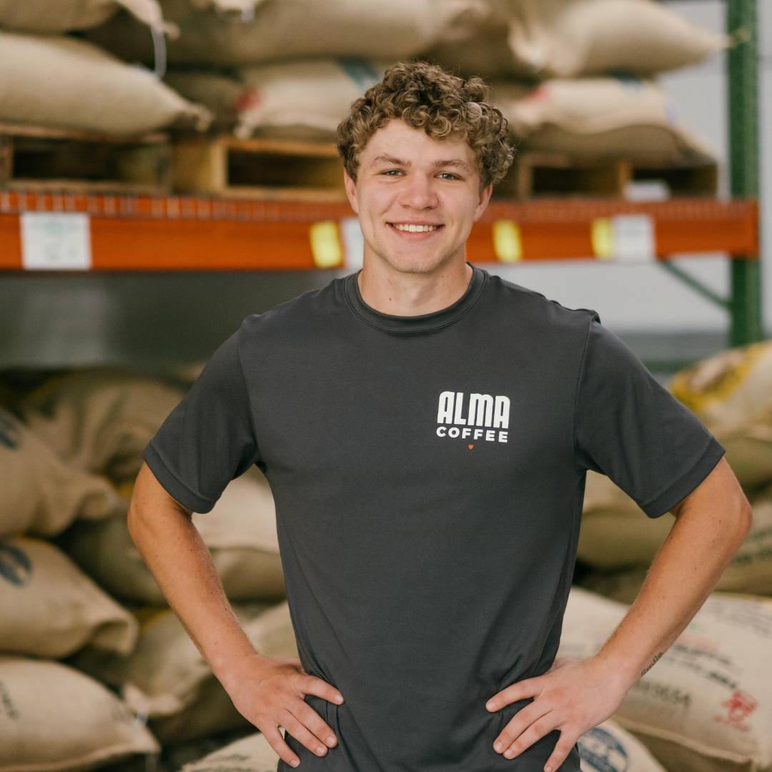 Brittany Reynolds, employee at Alma Coffee