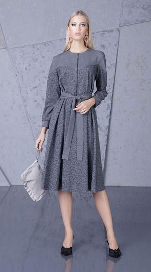 Платье серое Bonali 4085-0563