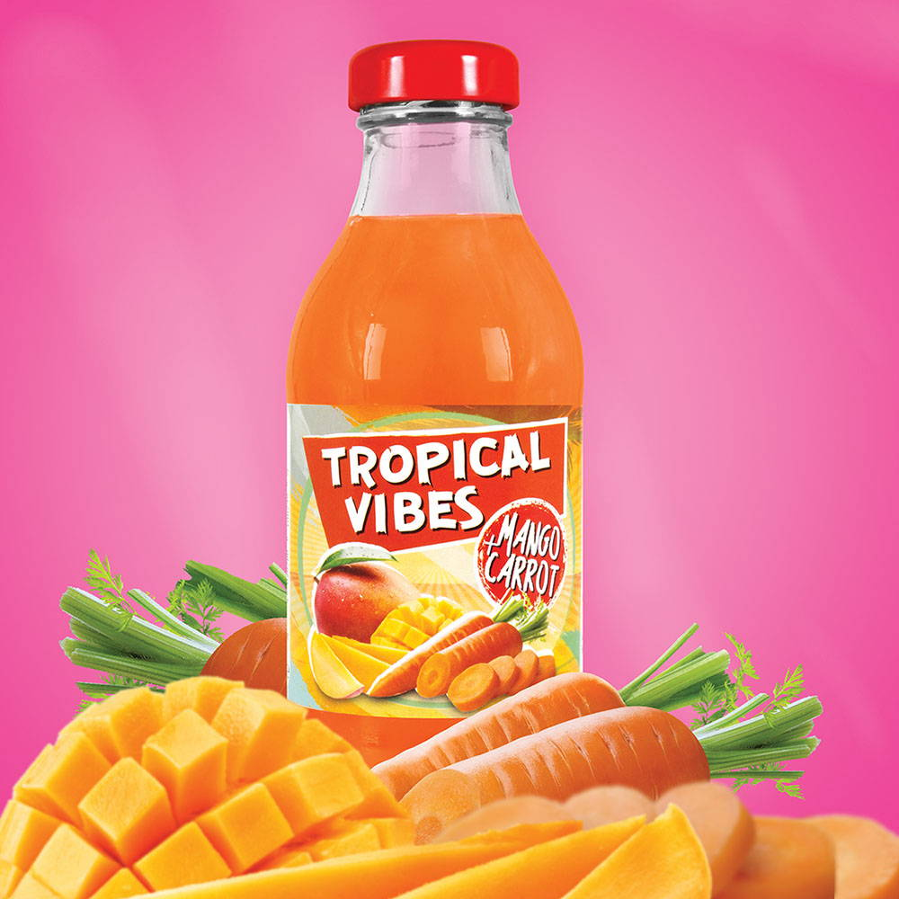 tropical vibes mango carrot drink