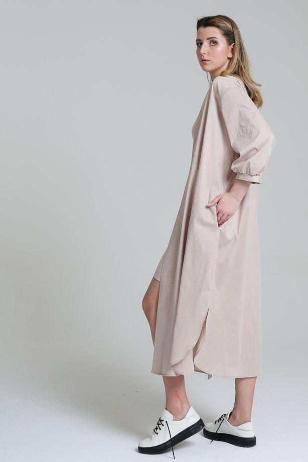 Платье-кафтан из хлопка