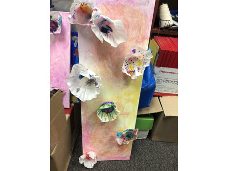 ​Chihuly Wall Art - Ms Bailey's Class Art