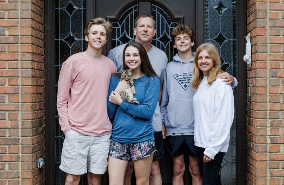 Franchise Owners of Primrose School Kimberly and David Wilson with their family