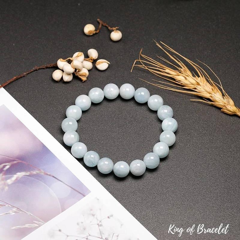 Bracelet en Perles d'Aigue Marine AAA+ | King of Bracelet