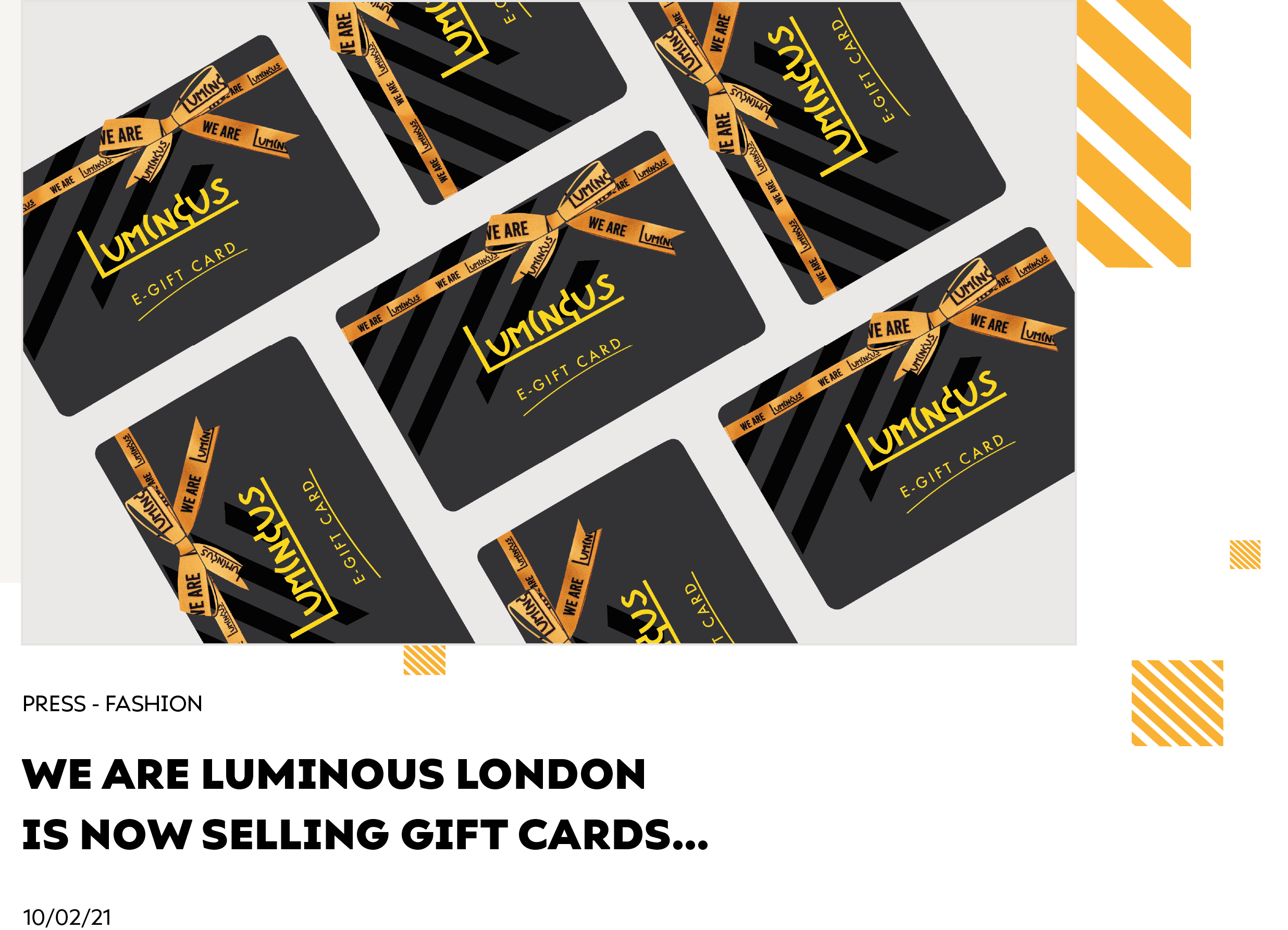 We Are Luminous London Is now Selling Gift Cards...