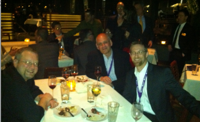 Davis Janowski, Joel Bruckenstein and Bill Winterberg power dinner.