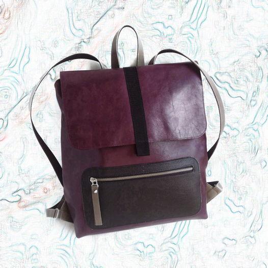 Рюкзак XL Баклажан/черный/серый