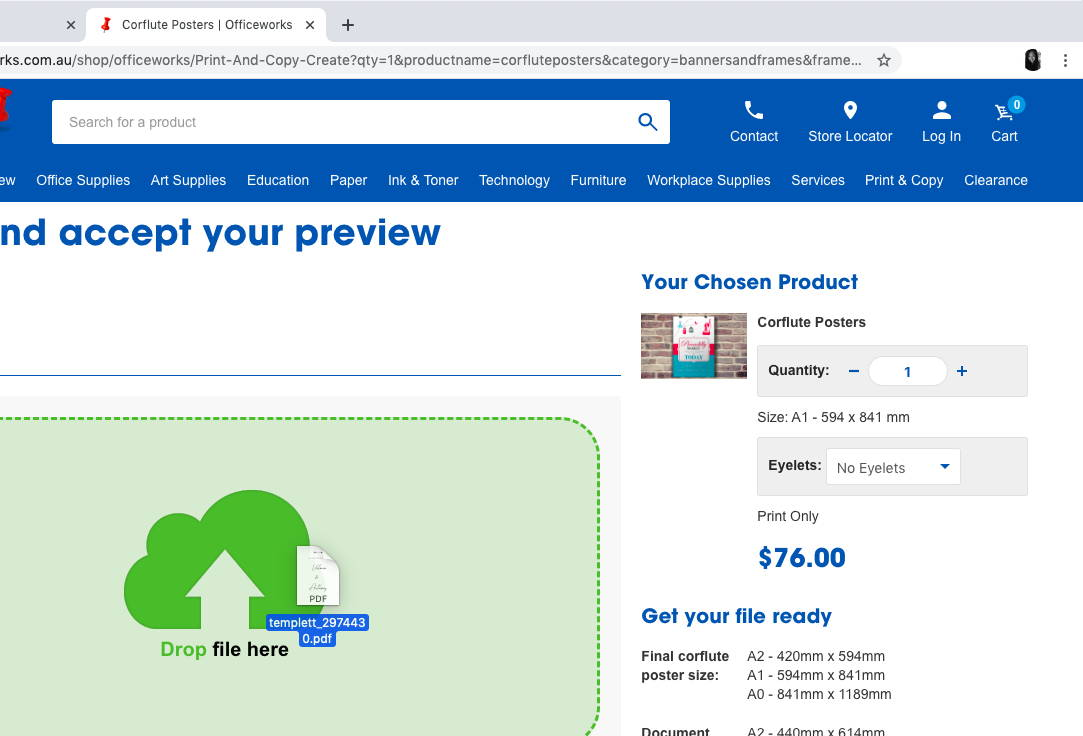 How to print your wedding signage online at Officeworks | The Hello Bureau