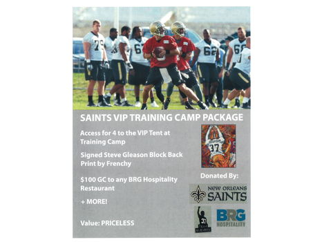 Saints VIP Training Camp Package