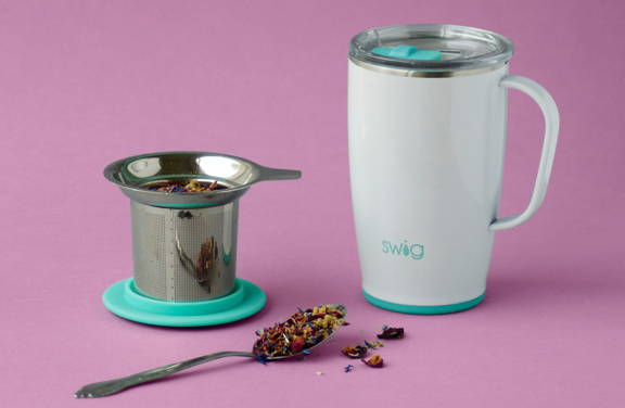 stainless steel tea infuser and mug