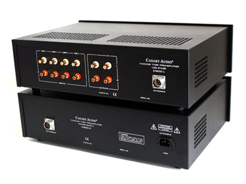 Canary Audio C1600 Reference Grade Tube Preamplifier BONUS: Ultra High End Power cord