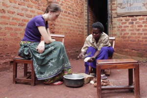 Cooking class in a Luo Home