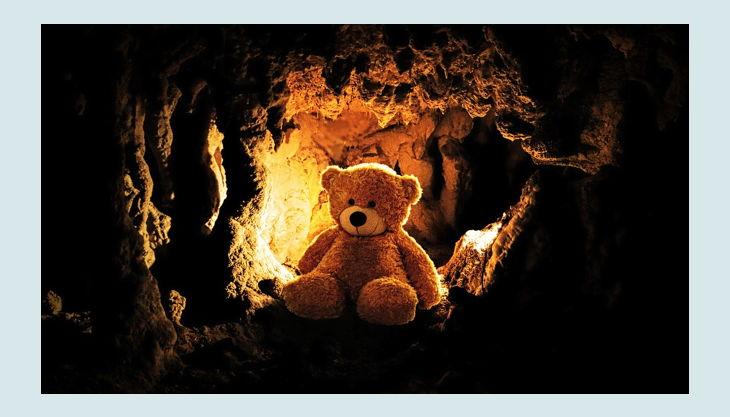 historische felsengaenge teddybär höhle px