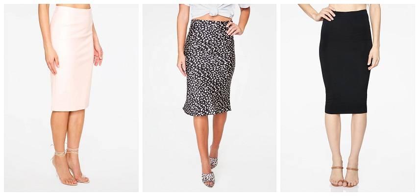 Pencil and Midi-Length Skirts