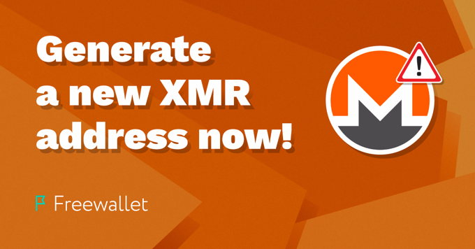Generate a new XMR address now!