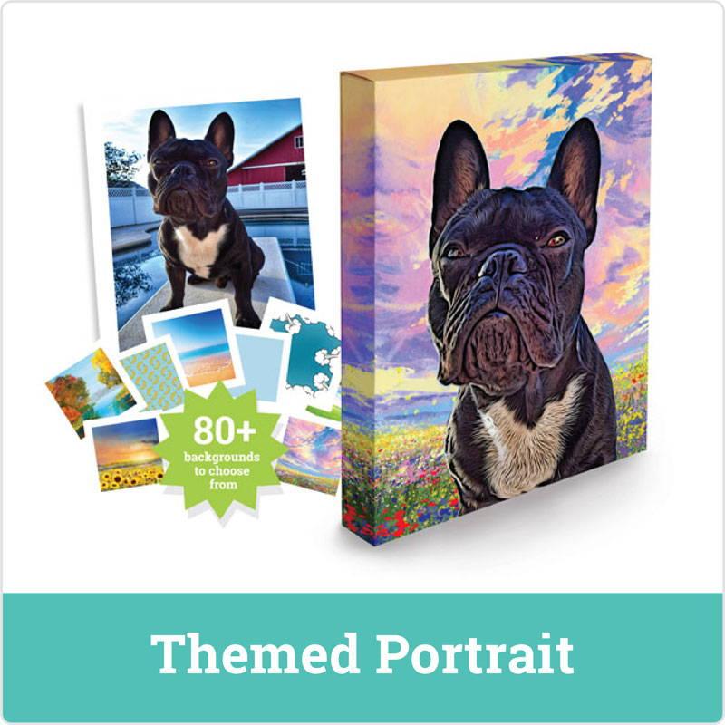dog portrait - themed