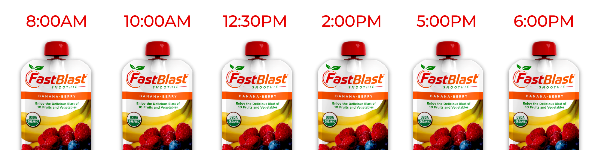 Fastblast smoothie scheduling of days and times