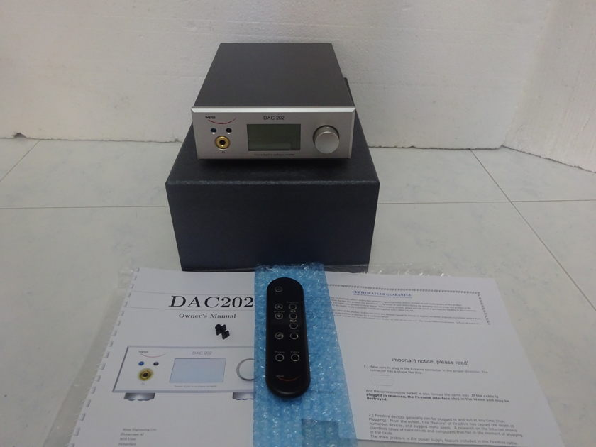 Weiss DAC202 with FireWire DAC cum Preamp  - Free Shipping