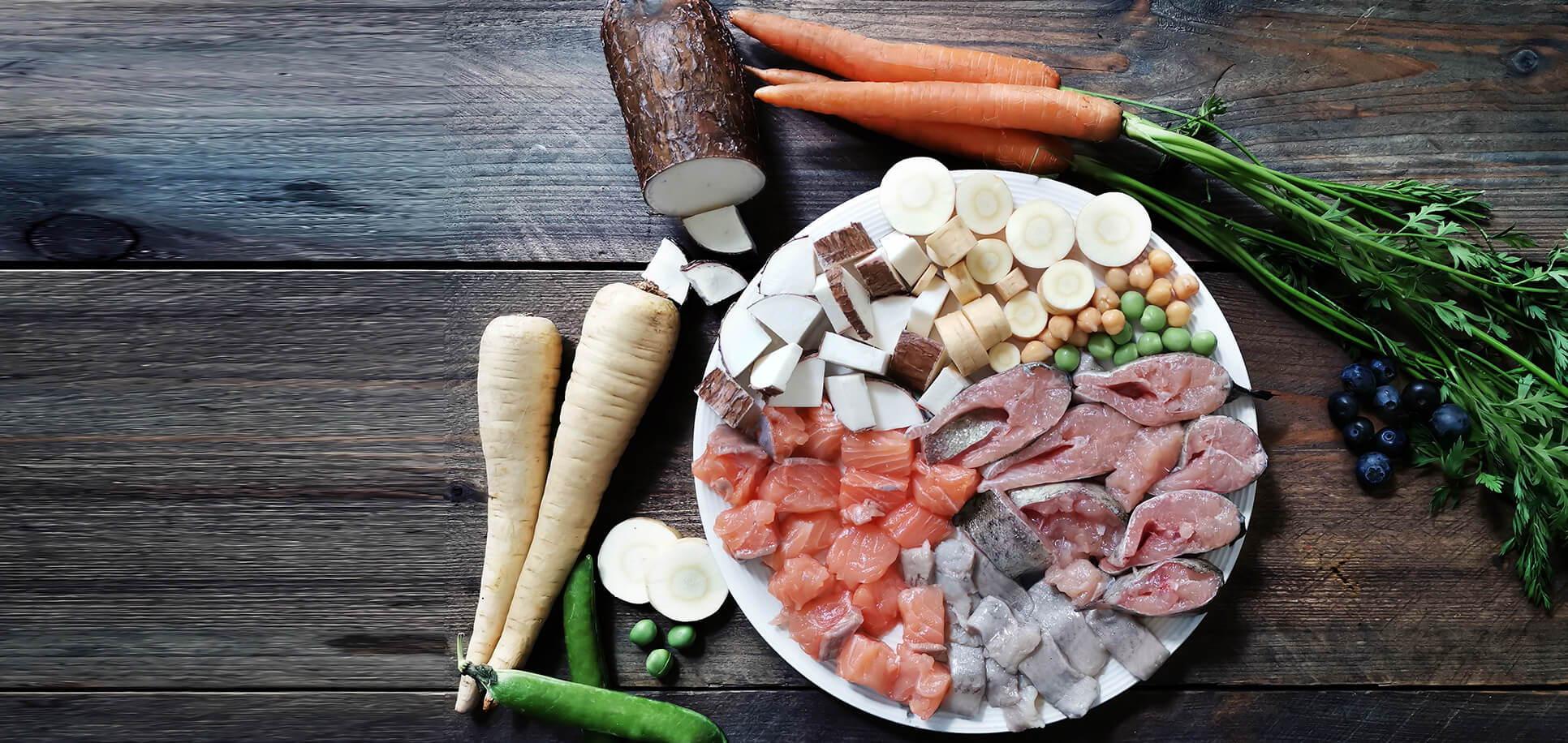 Trockenfutter mit Fisch ohne Getreide