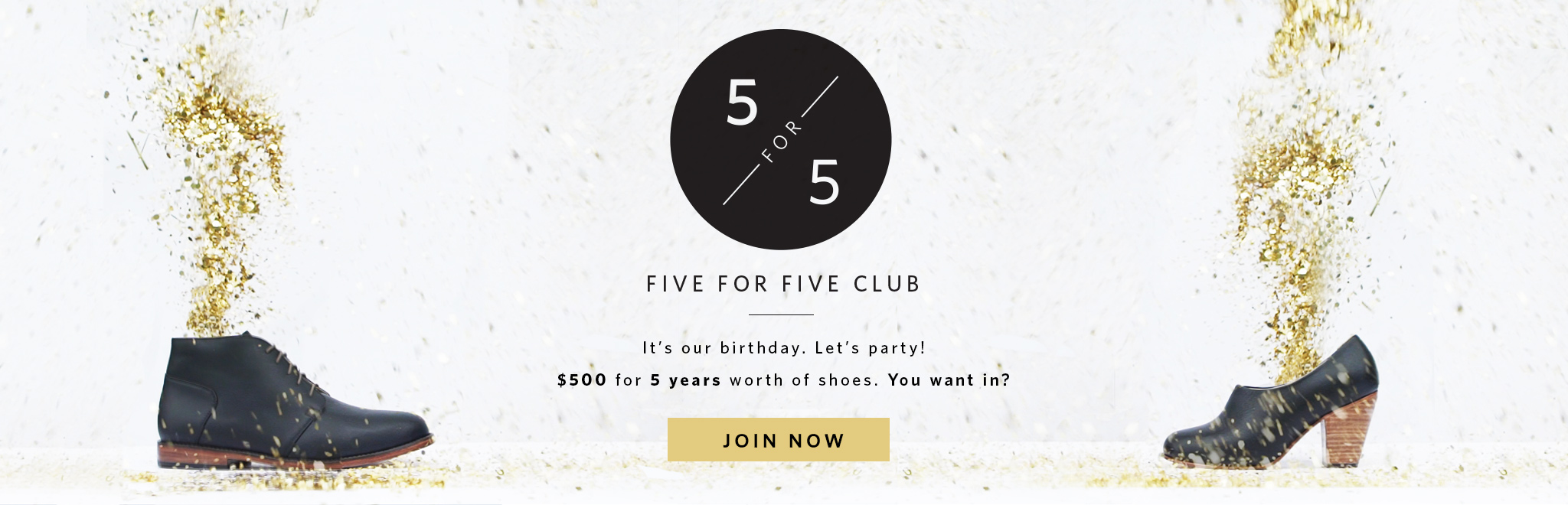 Join The 5 for 5 Club - Nisolo