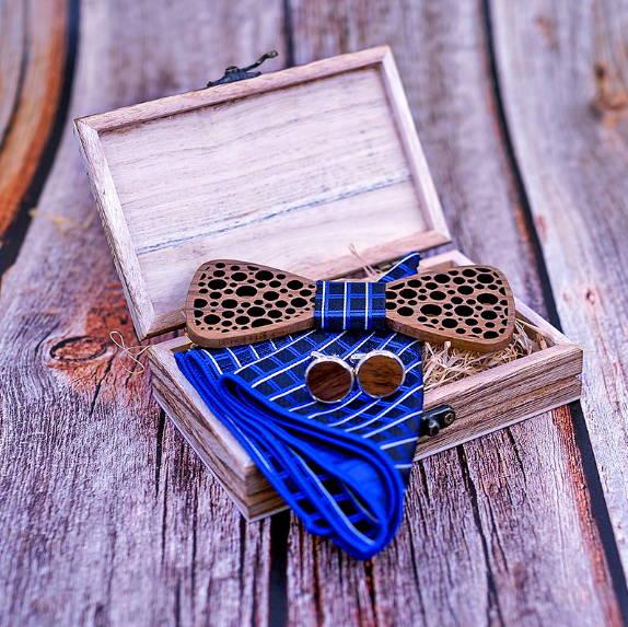 Noeuds papillons en bois
