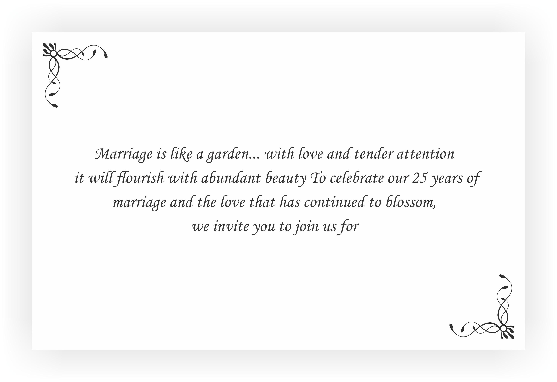 25th wedding anniversary invitation return gifts chococraft message for 25th anniversary invitation solutioingenieria Images