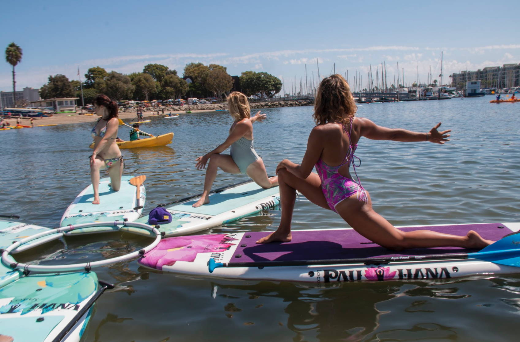 Yoga SUP Boards attached with Yoga Ring