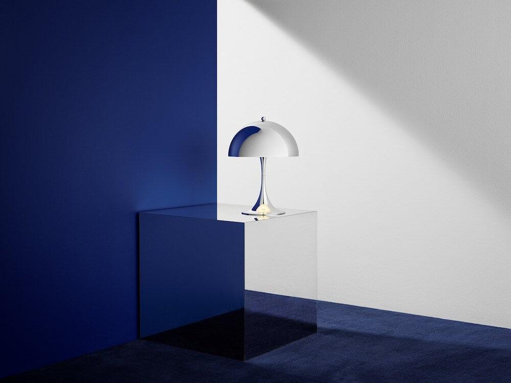 Louis Poulsen Panthella Mini Table Lamp in chrome