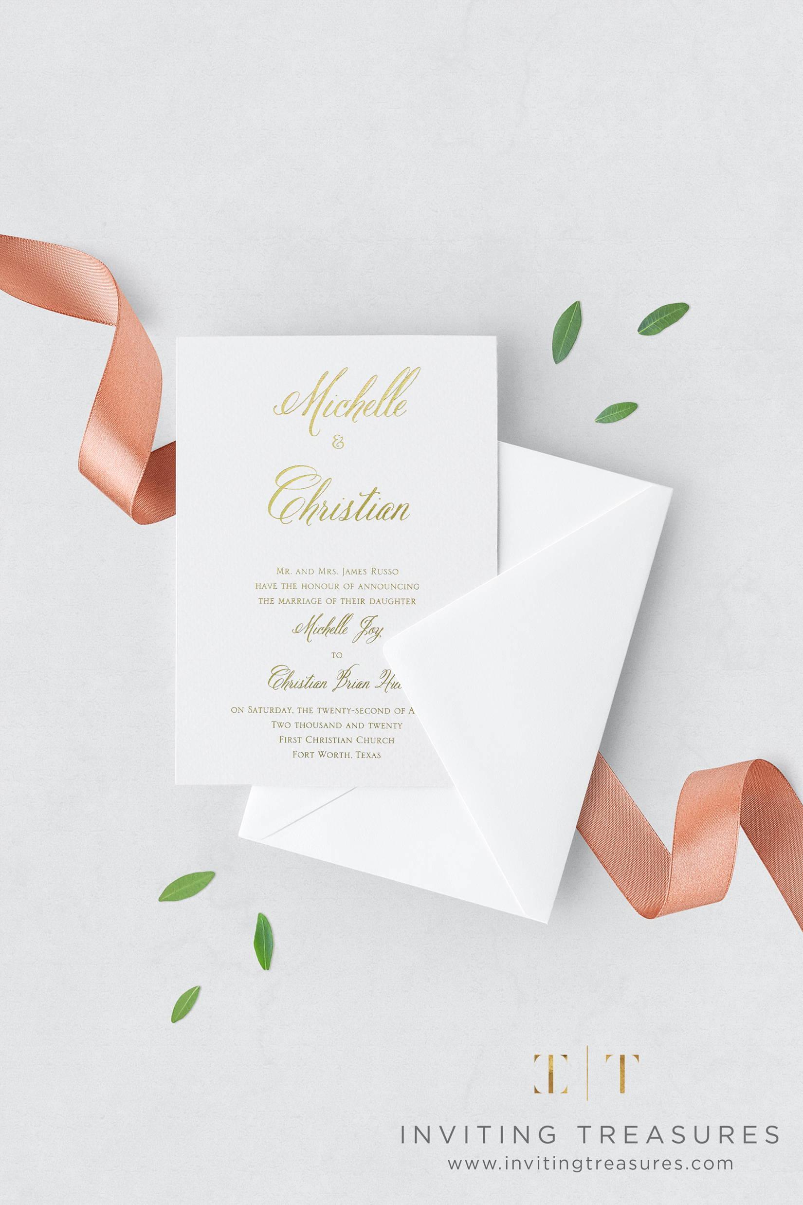 Shining Romance Wedding Invitation