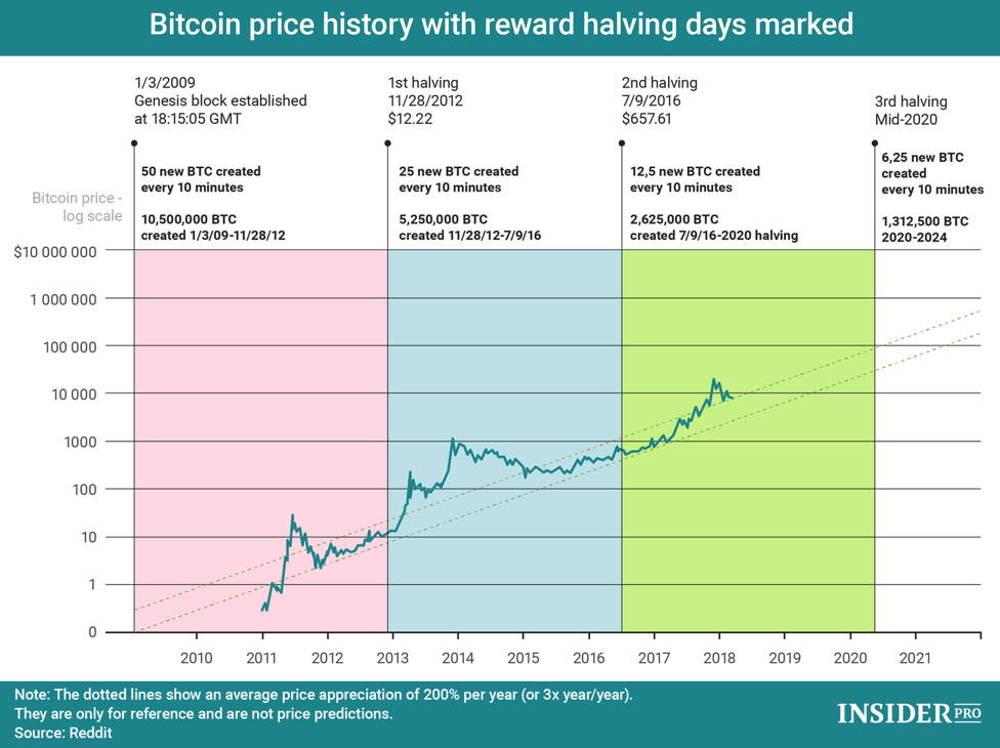 BTC price and halving correlation