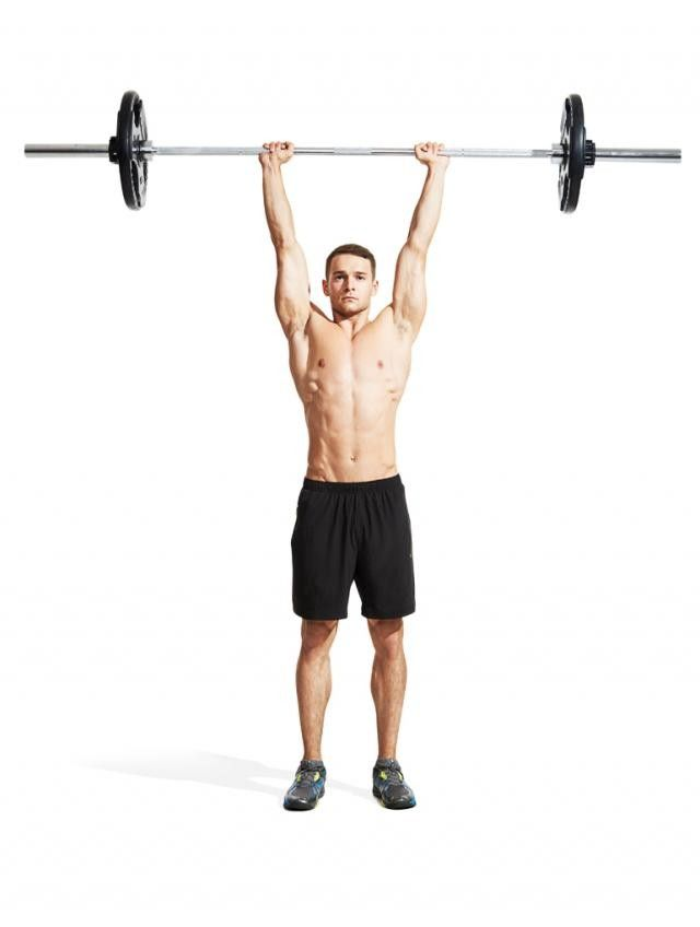 Squeeze the bar and brace your abs