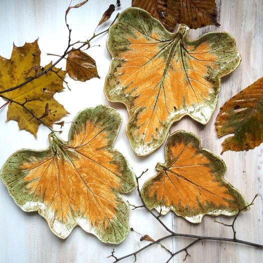 """Набор керамических тарелочек """"Осень"""""""