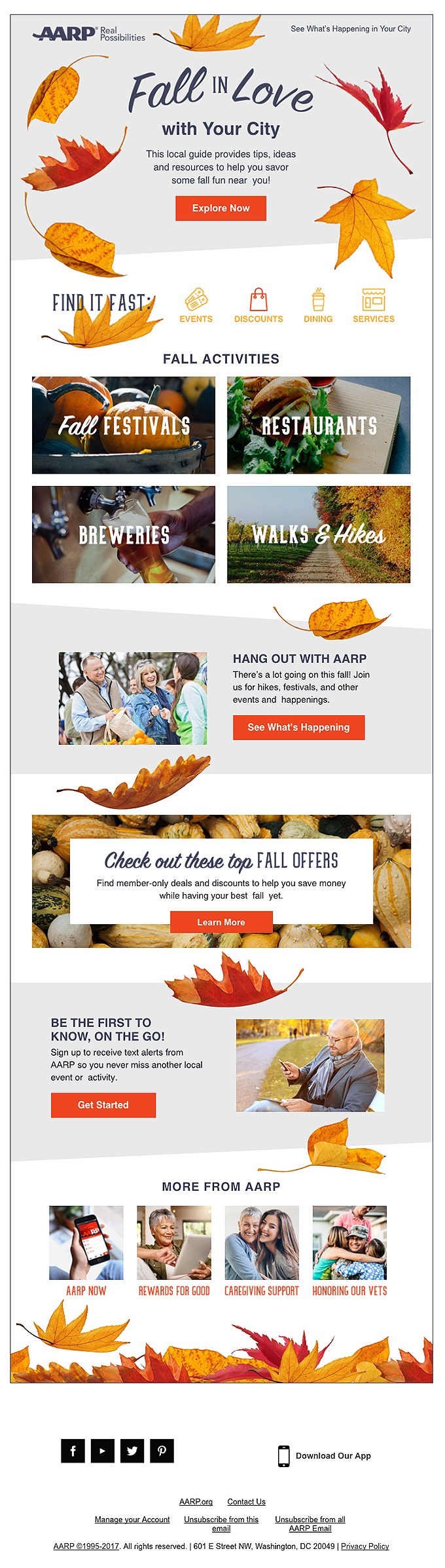 AARP knows their audience well and delivers messages that pack a ton of value for their readers.