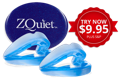 ZQuiet Anti-Snoring mouthpiece Try Now for $9.95 plus shipping and handling