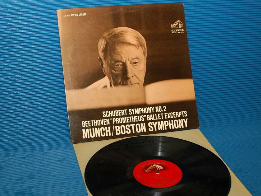 "SCHUBERT / Munch  - ""Symphony 2"" - RCA 'Shaded Dog' 1962 2S/3S"