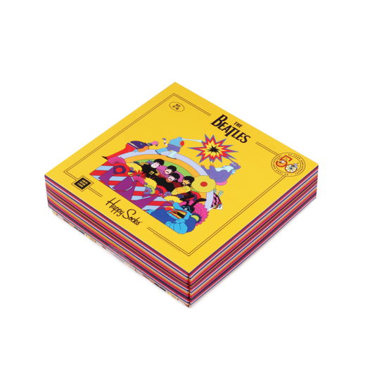 Happy Socks x The Beatles Yellow Submarine Набор из 3-х пар носков в подарочной коробке