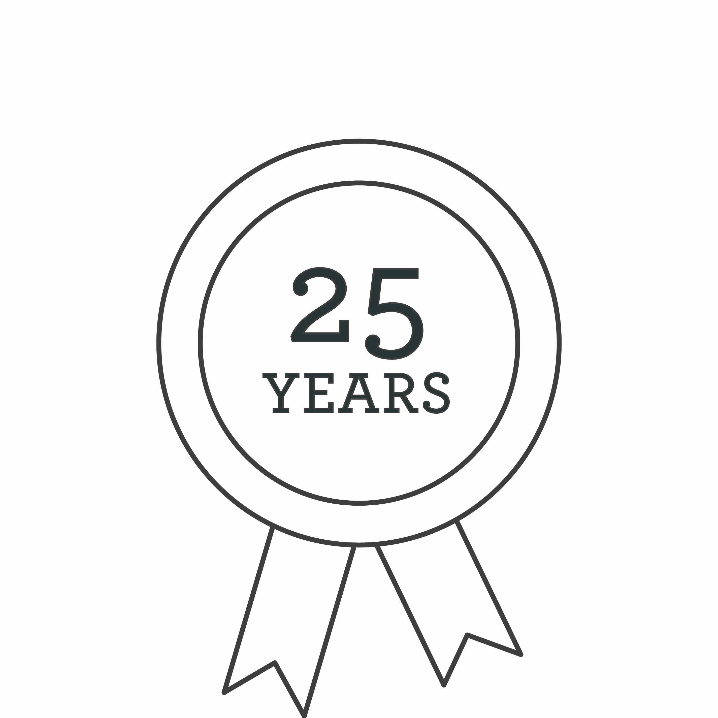 25 year warranty icon