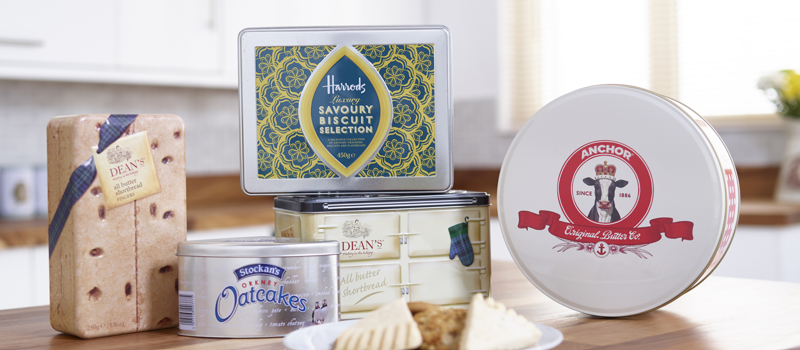 Image of bespoke tins in various shapes