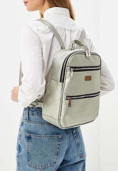 Рюкзак из экокожи металлик // ANJ