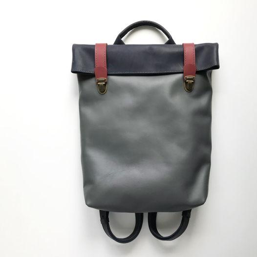Кожаный рюкзак Vertical Blueberry Nights