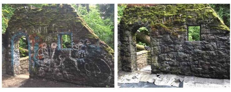 graffiti removal on historic buildings