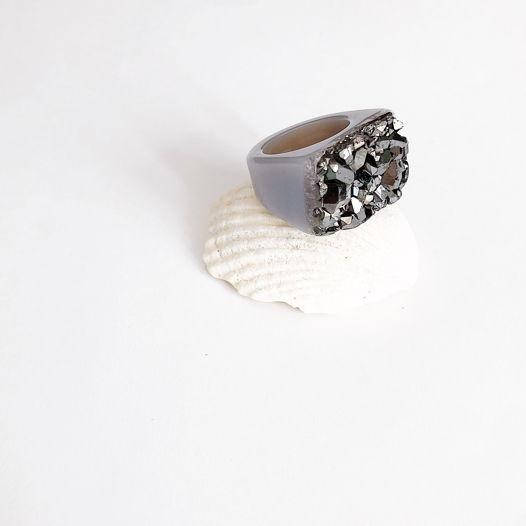 Кольцо из кварца с титановым напылением