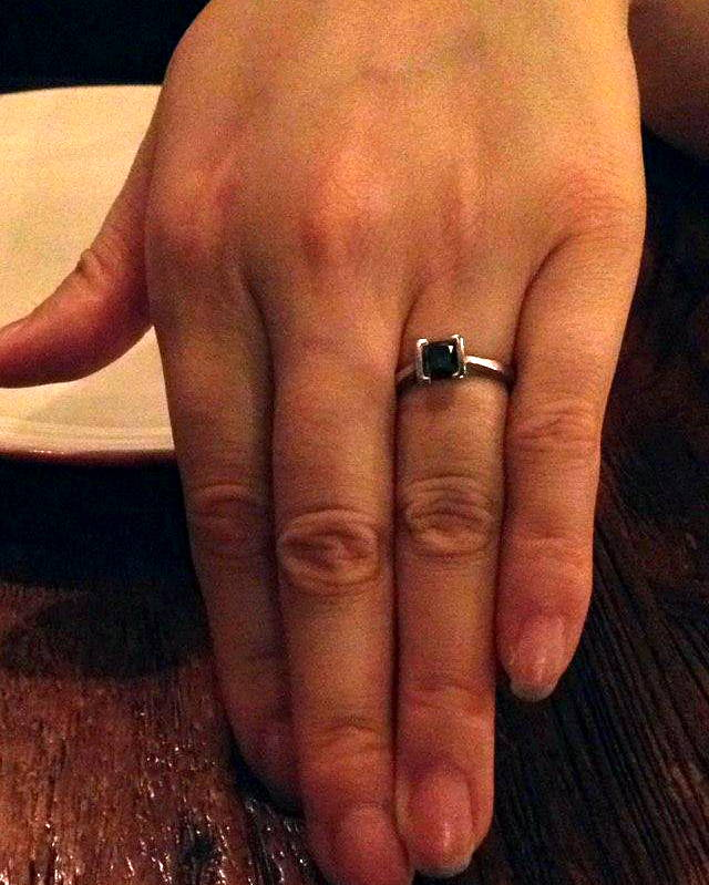 Brando`s fiancée's engagement ring