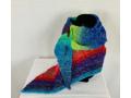 Kata Asymmetrical Hand-Knitted Scarf