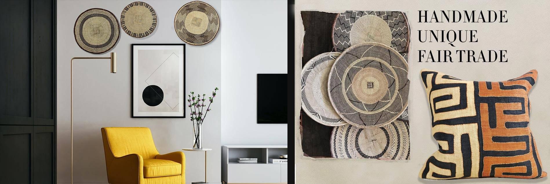 Homepage: Makenge Baskets, Senufo stools, tonga baskets and Kuba Cloth Covers