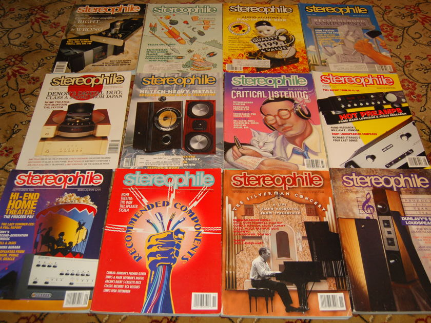 Stereophile magazine 1994-1997 48 issues