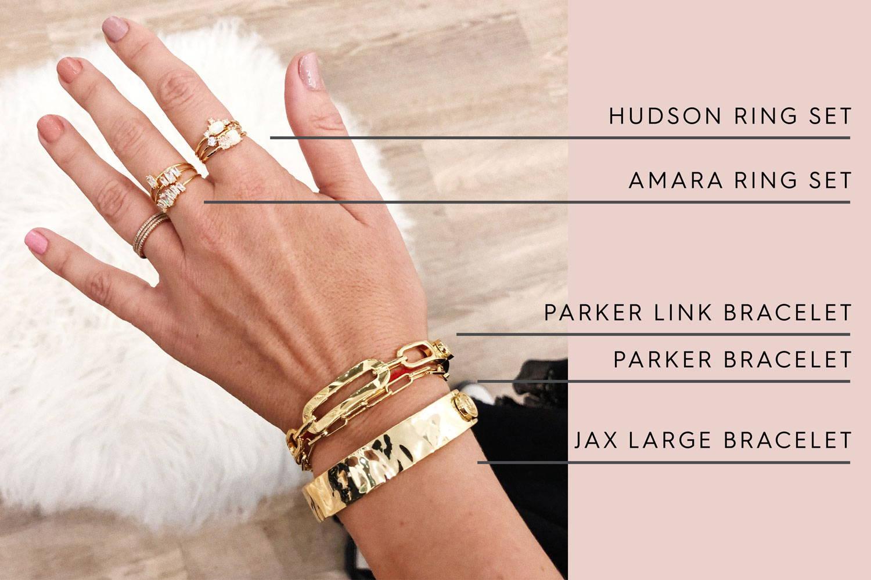 Hudson Ring Set | Amara Ring Set | Parker Link Bracelet| Parker Bracelet | Jax Large Bracelet